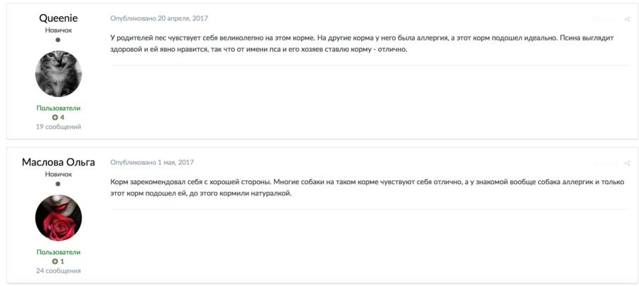 Отзывы о корме Грандорф
