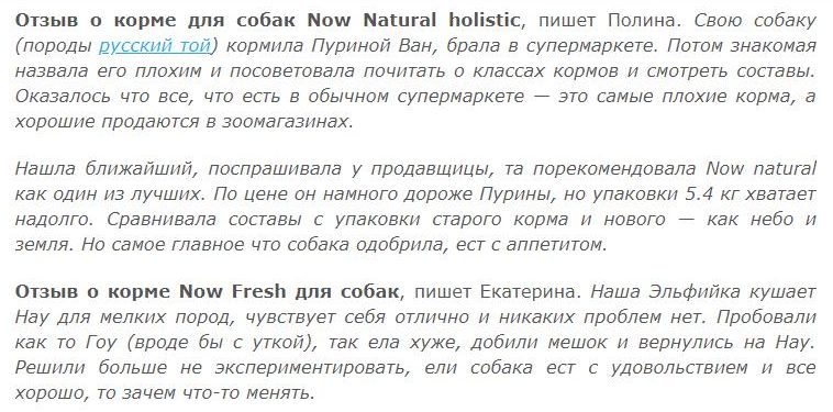 NOW Natural holistic New для собак