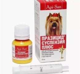 Паразицидплюс: суспензия для собак против гельминтов