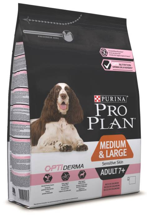 Pro Plan ADULT MEDIUM Sensitive Skin OPTIDERMA